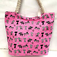 Пляжные сумки дешево оптом Китай (фуксия)39*46
