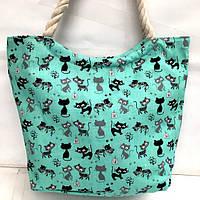 Пляжные сумки дешево оптом Китай (голубой)39*46