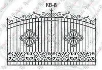 Кованые ворота. Комплект элементов 3600х2135