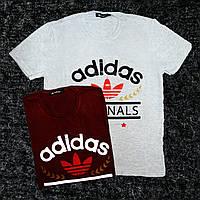 """Мужская футболка """"ADIDAS"""" M, Серый"""