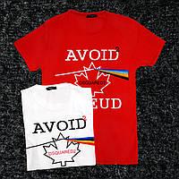 """Мужская футболка """"AVOID FREUD"""" M, Красный"""