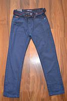 Котоновые брюки темно-синего цвета, р.134