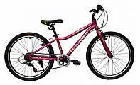 "Велосипед Winner Candy 24"" бордово-розовый"