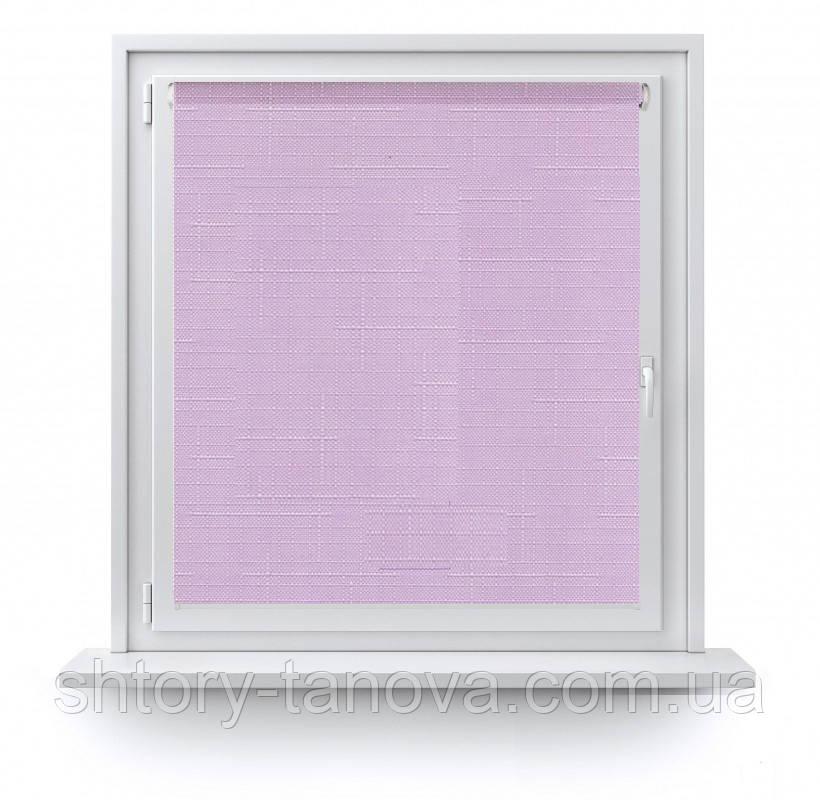 Рулонні штори з тканиною Марсель 611 світло-бузковий