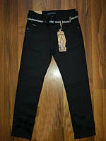 Школьные черные котоновые брюки на мальчика на каждый день, р.134