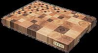 Кухонная Торцевая разделочная доска CUBO Fragments 40x29см Дуб