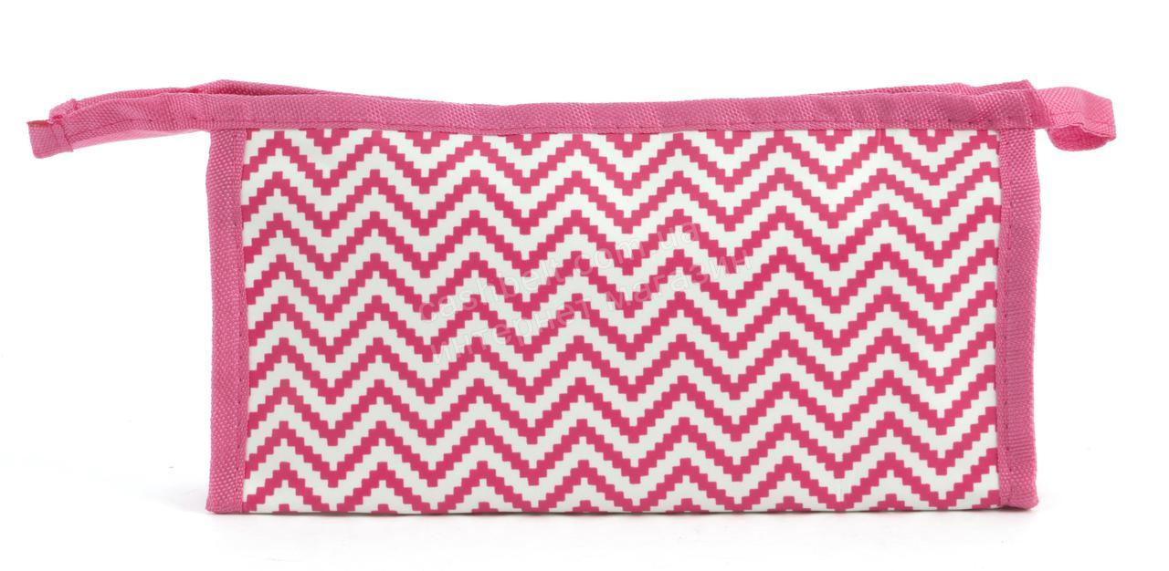 Стильная женская тканевая косметичка  art. 011 (102292) розовая
