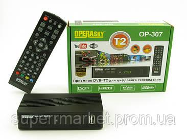 DVB-Т2 OP-307 Operasky, TV тюнер Т2 приемник для цифрового ТВ
