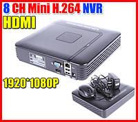 Сетевой IP видеорегистратор для 8 видеокамер видеонаблюдения DVR NVR FullHD 1080p на 8 камер