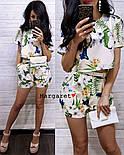 Женский модный костюм с шортам (в расцветках), фото 2