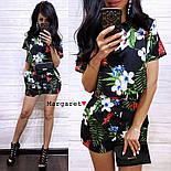 Женский модный костюм с шортам (в расцветках), фото 4