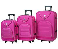 Набір валіз на колесах Bonro Lux Рожевий 3 штуки, фото 1