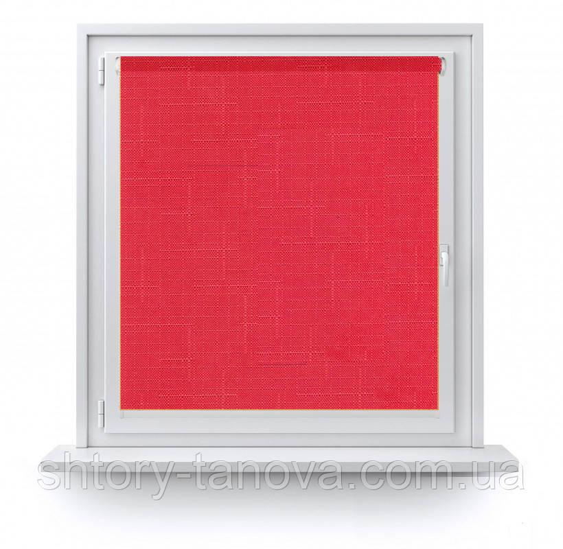 Рулонні штори тканина Марсель 610 яскравий червоний