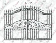 Кованые распашные ворота 2870х2000 КВ-11