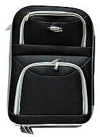 Удобный дорожный чемодан черного цвета текстиль (размерный ряд) 2 колеса Ч42, фото 1