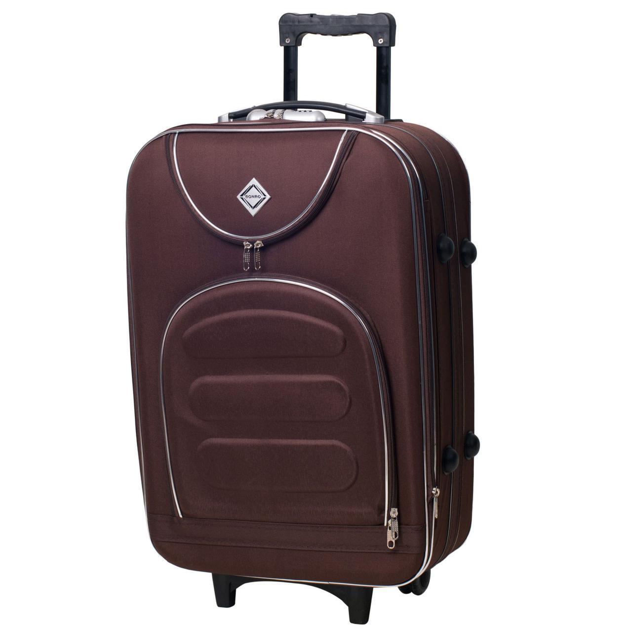 Дорожный чемодан на колесах Bonro Lux Coffee Небольшой