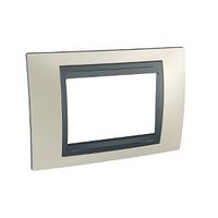 Рамка 3-мод. Титановый/Графит Unica Top Schneider, MGU66.103.295