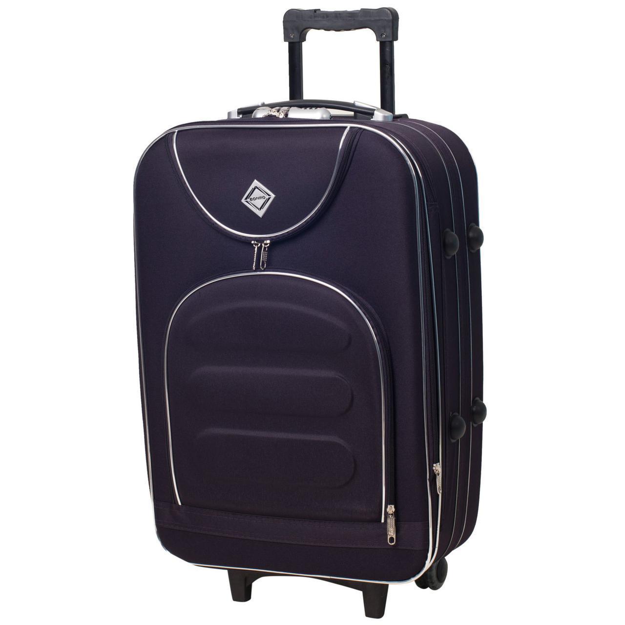 Дорожный чемодан на колесах Bonro Lux Темно-фиолетовый Небольшой