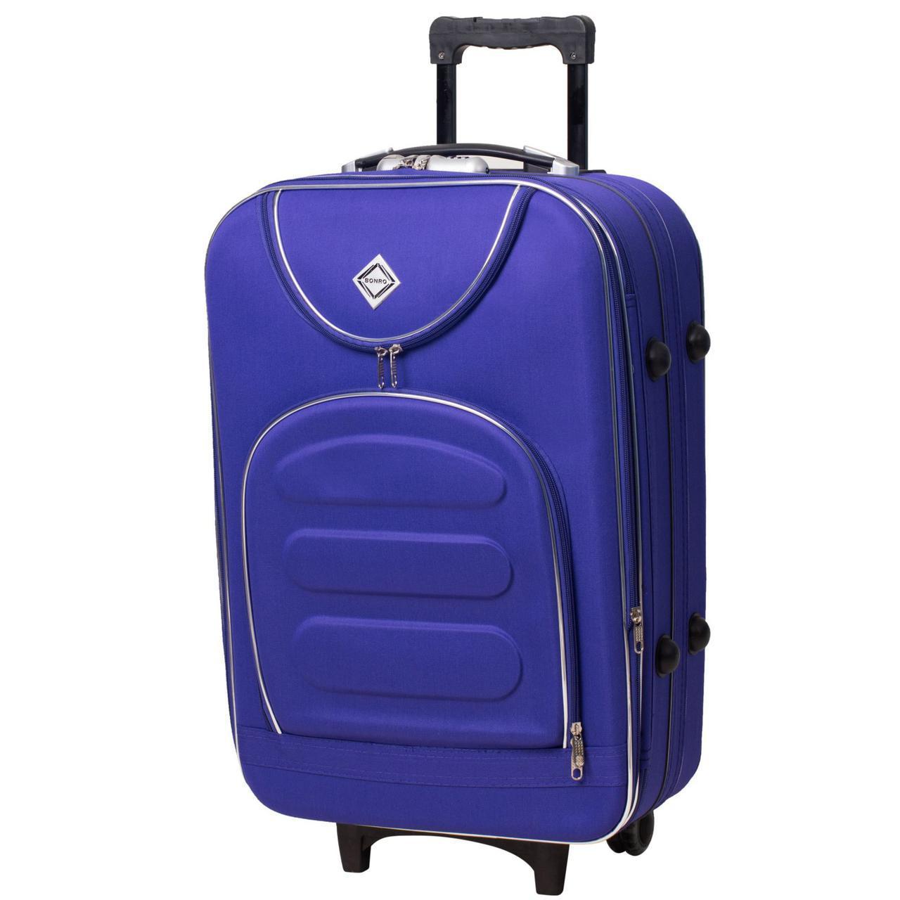 Дорожный чемодан на колесах Bonro Lux Фиолетовый Средний