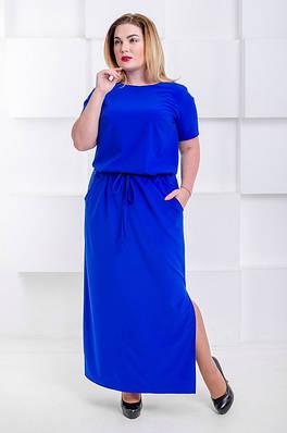 69e6fc1a151 Летнее платье макси большого размера Гарсия электрик (46-52) - цена 285  грн. Купить в Украине - интернет магазин FaShop