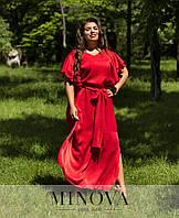 Красное платье в пол, размер 50, 52, 54, 56, фото 1