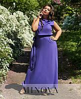 ДЛинное летнее платье, ткань штапель. Размер 44-46, 48-50, 52-54, фото 1
