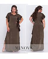 Женское платье в пол, ткань шелк кристалл. Размер 50,52,54,56, фото 1