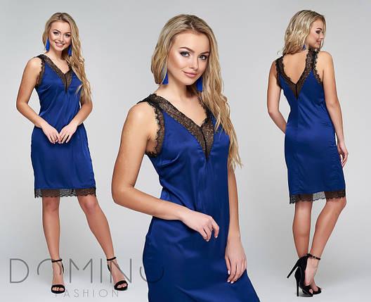 Шелковое платье с кружевом, фото 2