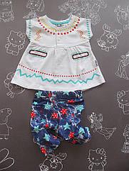 Детский летний костюм Звездочка для девочки на 6-24 месяца