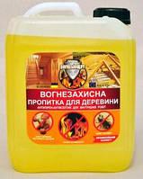 """Антипирен-антисептик для внутренних робот """"Огнебиощит"""", готовый расствор, прозрачный 5л"""