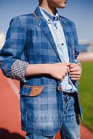 Пиджак джинсовый для мальчика 10-13 лет