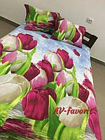 Комплект постельного белья Сатин двухспальный 180х220