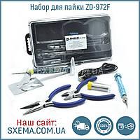 Набор инструментов ZD 972F USB паяльник, кусачки, утконосы, отвертка, кейс, фото 1