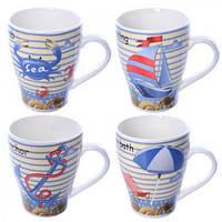 Чашка фарфоровая R17620, 375 мл, 13*7 см, Чашка из фарфора, Кружка с рисунками