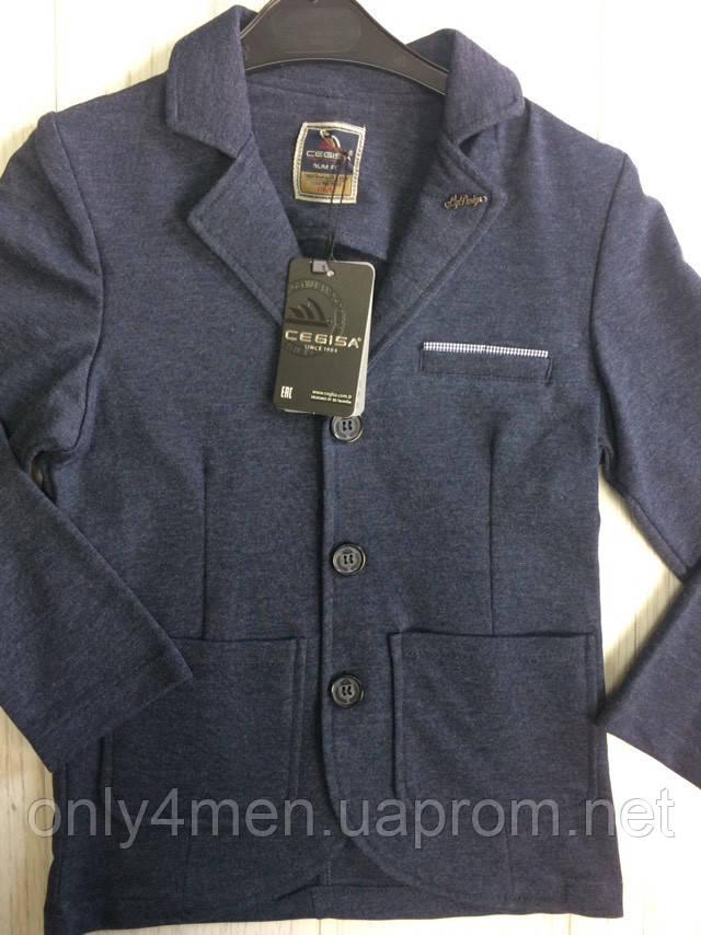 Пиджак трикотажный для мальчика, одежда для мальчиков 6-9 лет