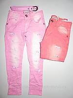 Котоновые брюки для девочек Seagull, 4,8 лет. [Ростовка]