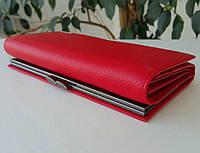 Женский кожаный кошелек Prensiti с внешней монетницей, фото 1