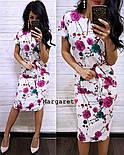 Женское легкое летнее платье с поясом (расцветки), фото 5