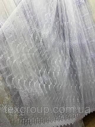 Тюль фатин белая VST-1279, фото 2
