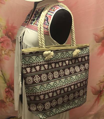Городская женская сумка через плечо с интересным этническим принтом, фото 2