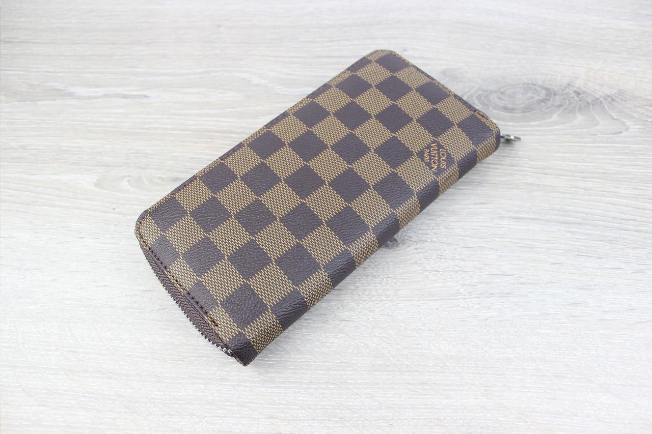 Кошелек для нагрудного кармана (Breast Wallet) Louis Vuitton Zippy Damier  Ebene коричневый ( точная копия) ... aa3b6190db5