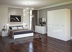 Спальня Белла - 4 дв. Глянец белый