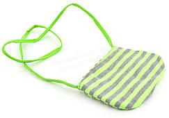 Детская сумочка для девочек  art. (102336) ярко салатовая/серая