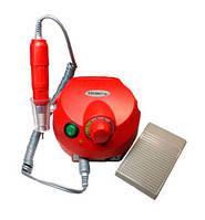 Фрезер для маникюра, комбинированого педикюра Escort 2 Pro красный, 30-35 000 об/мин с педалью вкл/выкл