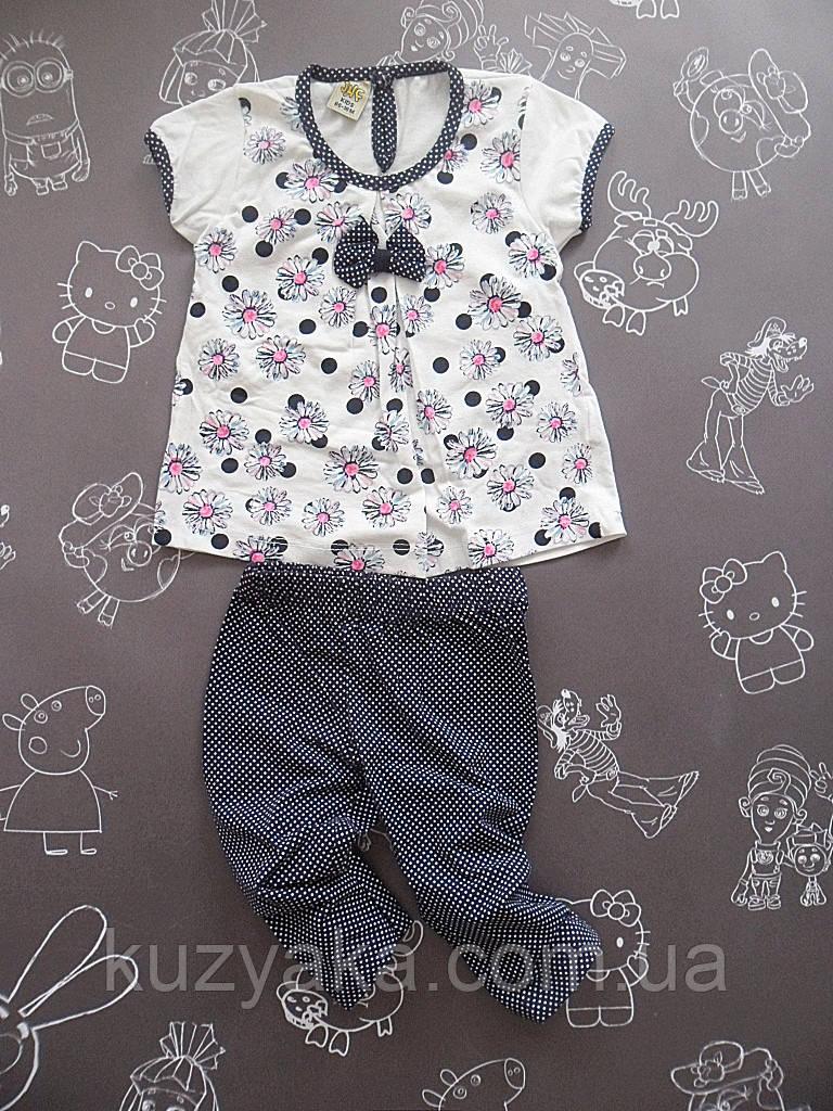 Детский летний костюм Ромашки для девочки на рост 86 см