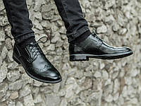 Мужские классические кожаные туфли броги