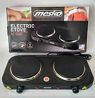 Электрическая плита двухкамфорочная Mesko MS 6509 2000 Вт