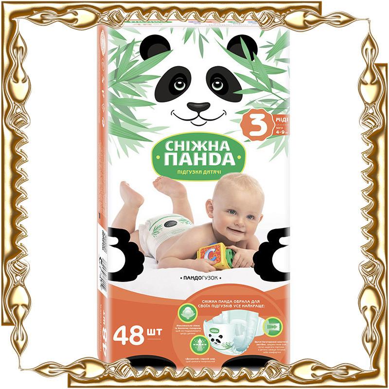 """Детские подгузники """"Снежная Панда"""" 3 размер"""