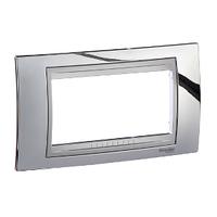 Рамка 4-мод. Блестящий хром/Алюминий Unica Schneider, MGU66.104.010