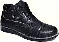 """Мужские ботинки """"Cargo Classic"""". Кожаные. Натуральная шерсть. Черные"""